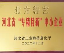 北方精艺荣获河北省专精特新企业荣誉称号